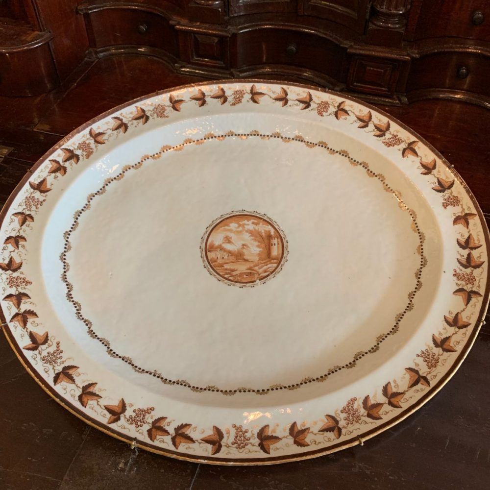 Large Chinese Export Porcelain Platters