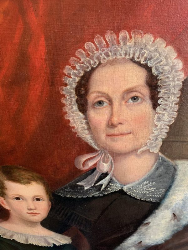 We sold this charming portrait of Sarah Bernard and her grandson Robert Lightfoot Robb to the Port Royal American History Museum.