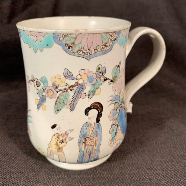 English Polychrome Saltglaze Mug.