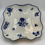 image of Worcester Blue and White Porcelain Dessert Dish