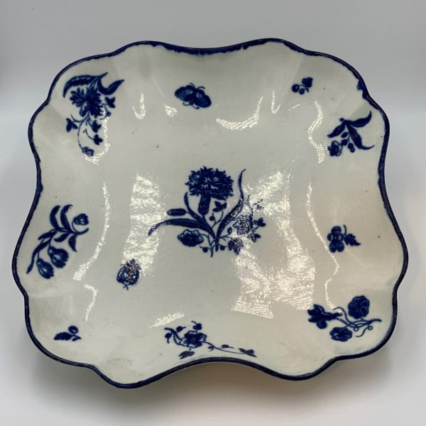 "Worcester Porcelain ""Gilly Flower"" Pattern Fruit Dish"