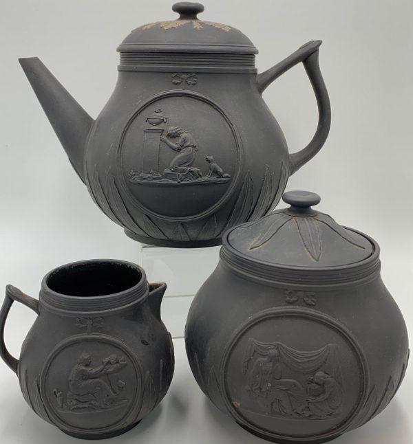 18th Century Wedgwood Basalt Tea Set