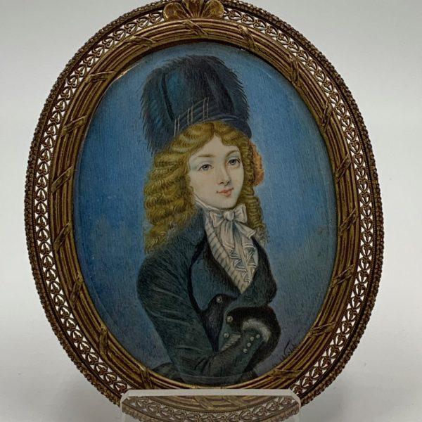 Victorian Miniature Portrait of a Lady, R. Webb