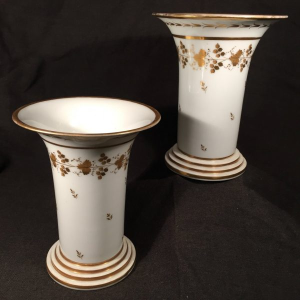 These Paris porcelain vases, which we sold to Montpelier, were made by Nast, the same factory that produced the Madison's dinnerware.