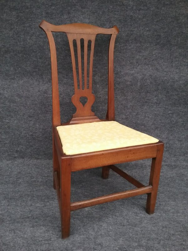 A walnut side chair from the Walker shop in King George now in a distinguished local collection. We are always seeking more chairs of this type.