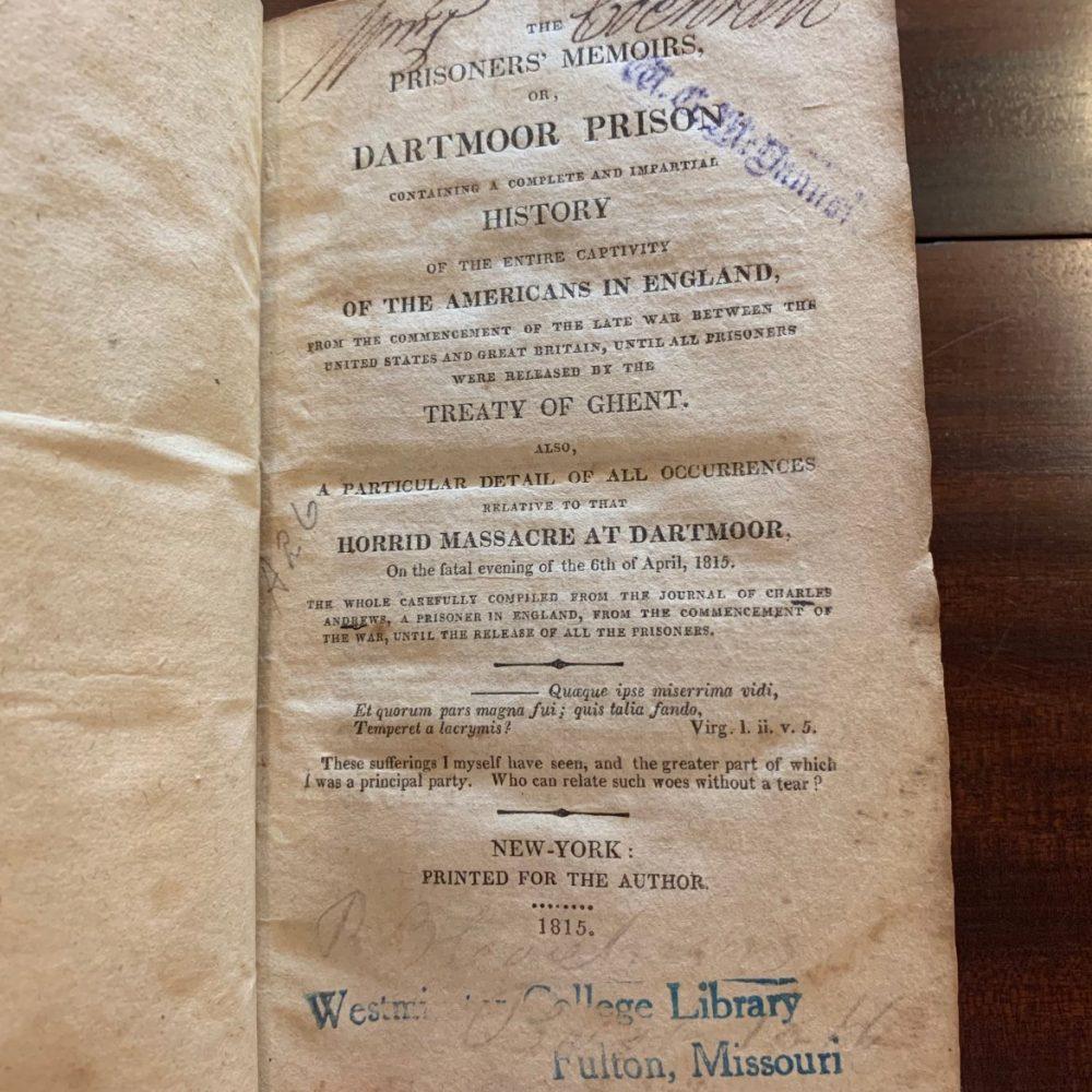 Prisoners' Memoirs, or Dartmoor Prison, 1815