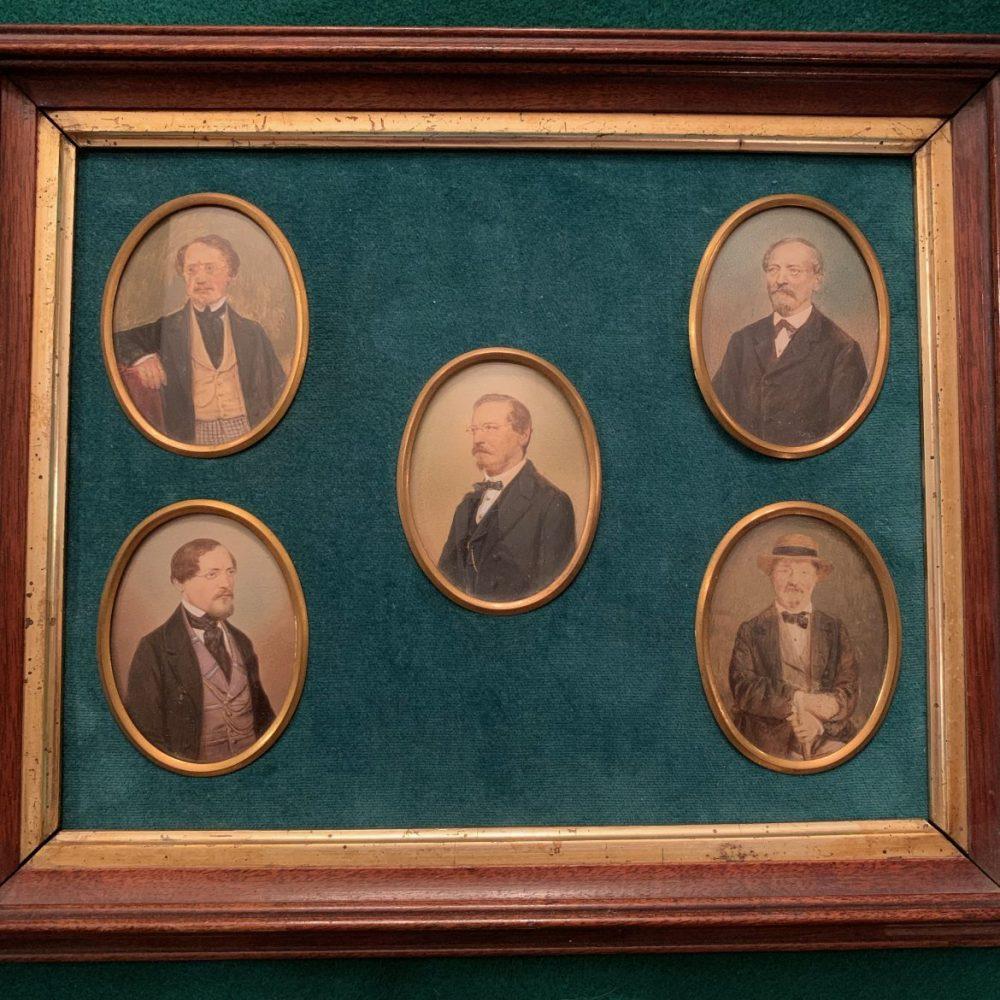 Miniature Portraits by Albert Theer, Vienna