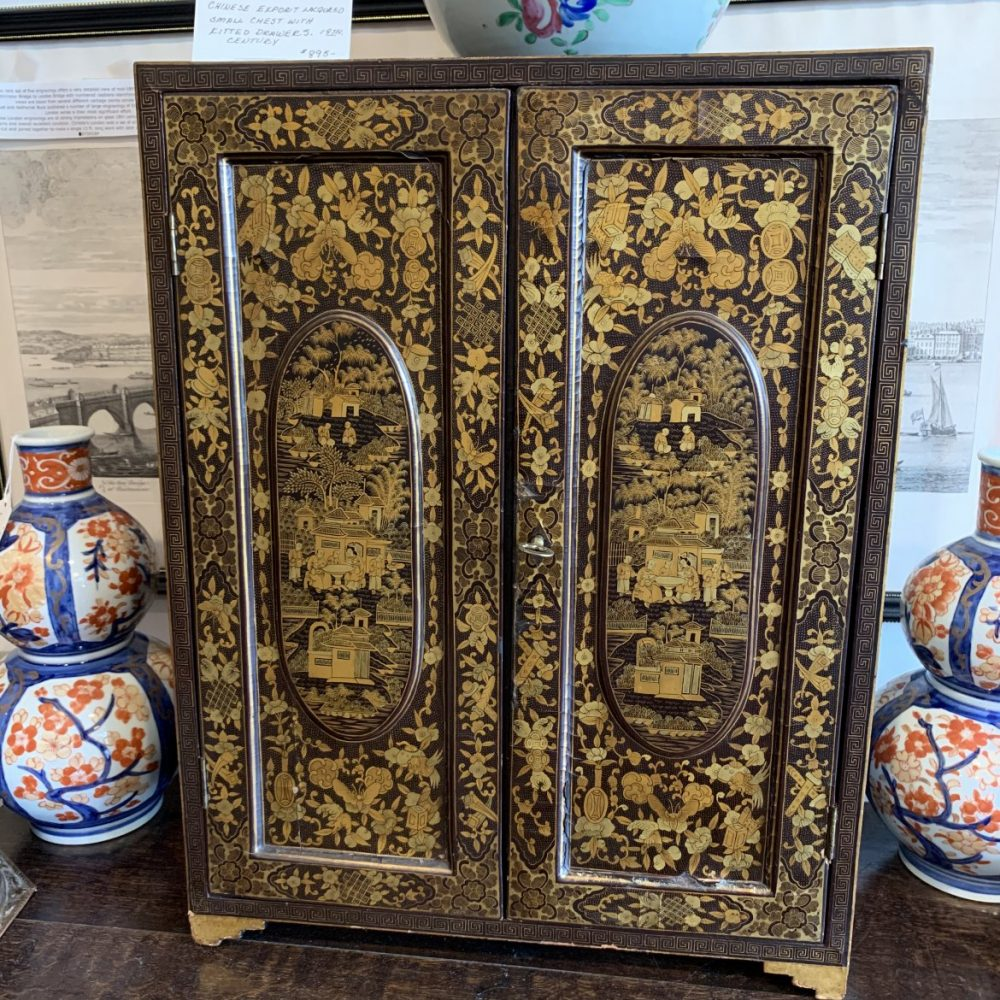 Chinese Export Lacquered Cabinet with Drawers