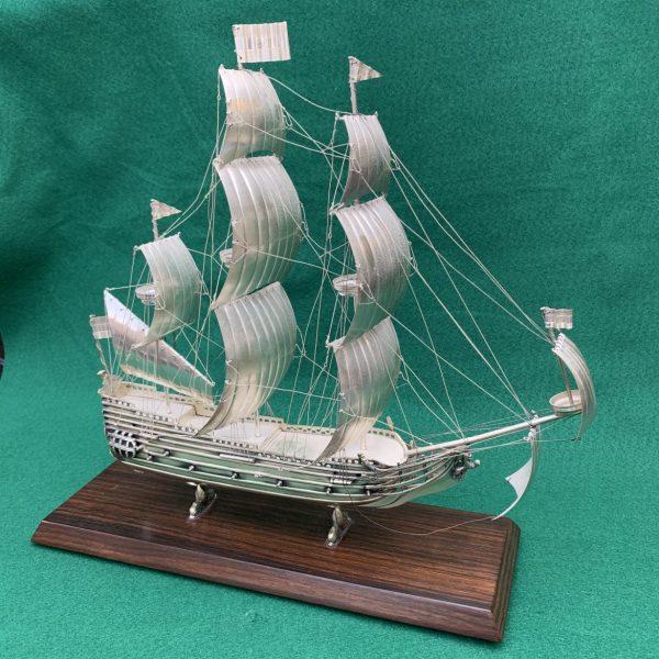 Dutch Silver Model of the 17th Century Ship De Zeven Provinciens