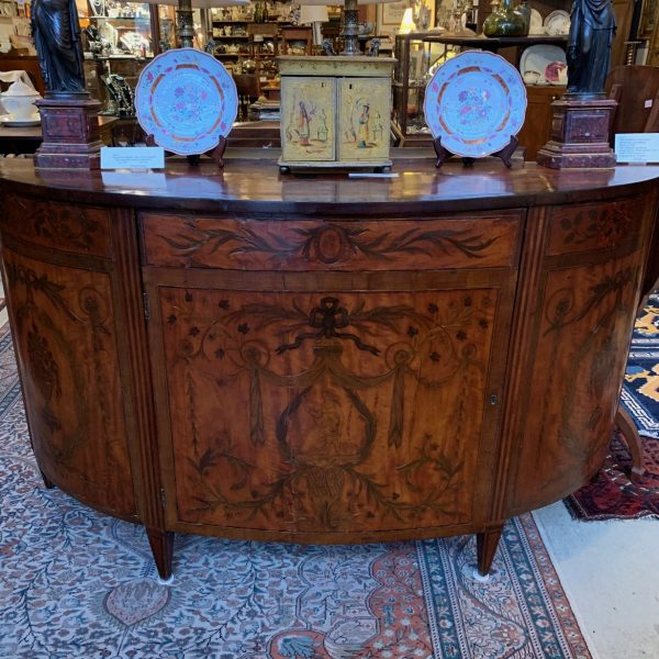 George III Marquetry Decorated Commode