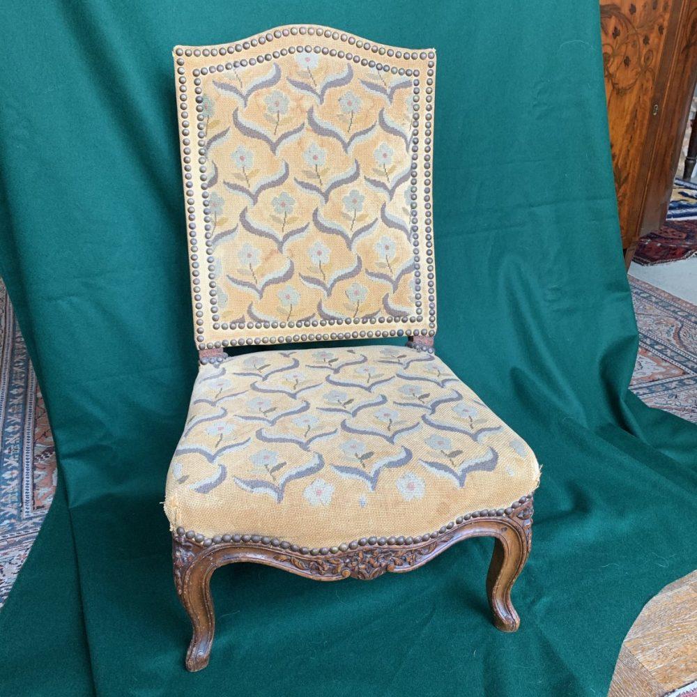 Rare Louis XV Walnut Child's Chair