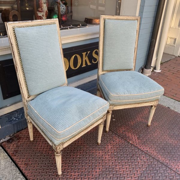 Pair Louis XVI Boudoir Chairs