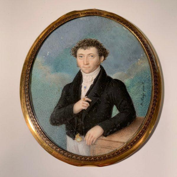 Louis Skutch, Friend of Louis I of Bavaria, Miniature Portrait