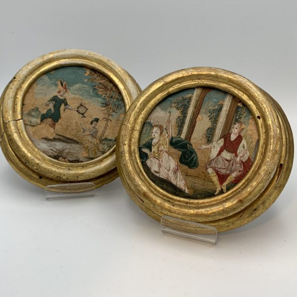 Pair of Early European Miniature Paintings
