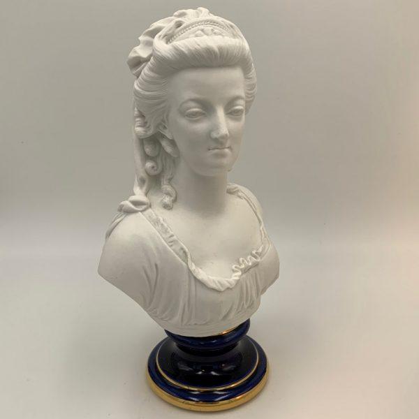Sevres Biscuit Porcelain Bust of Marie Antoinette