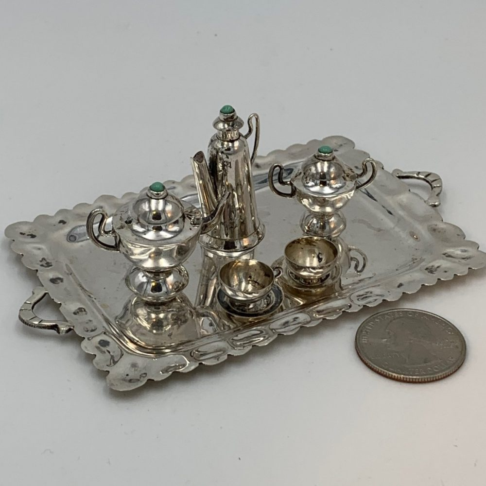 Miniature Tea and Coffee Service, Mexican Sterling