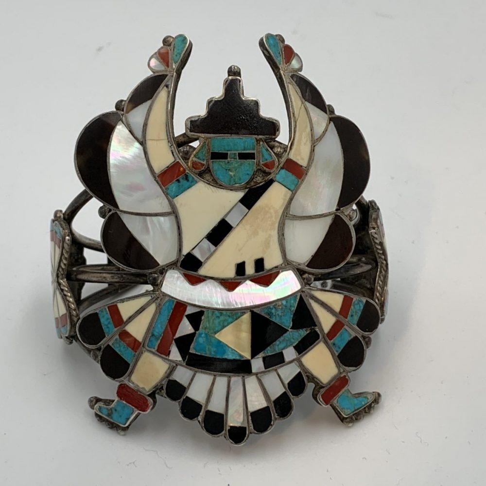 "Large Zuni ""Knife Wing God"" Bracelet"