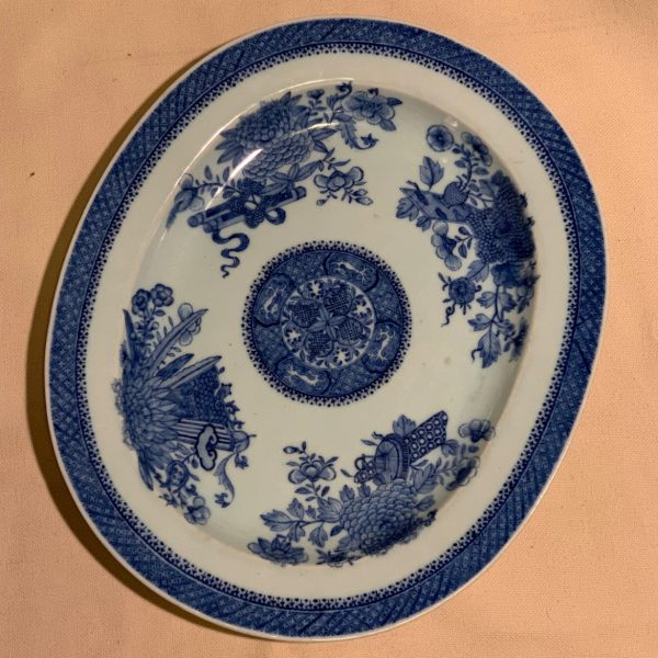 Fitzhugh Pattern Chinese Export Blue and White Platter