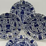 image of Fitzhugh Pattern Chinese Export Blue and White Platter