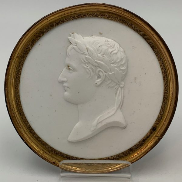 Biscuit Porcelain Portrait of Napoleon