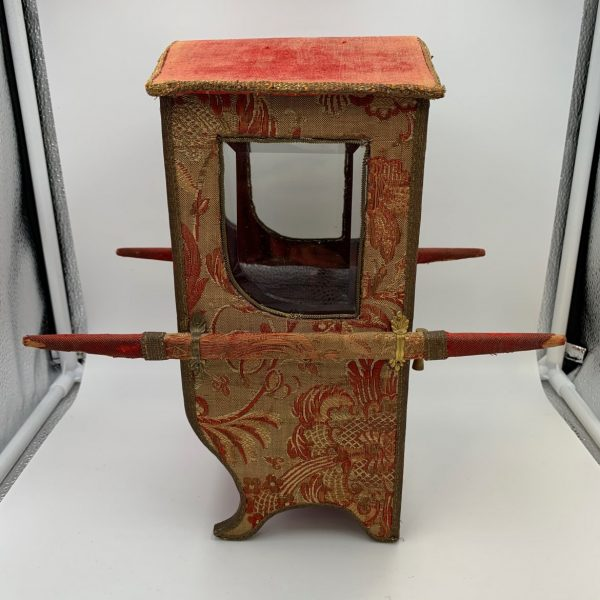 Miniature French Sedan Chair, Display Case