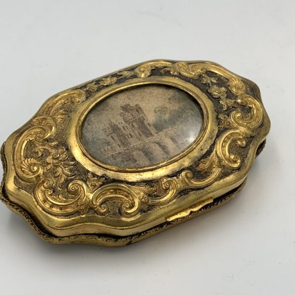 French Gilt and Silvered Brass Sewing Kit
