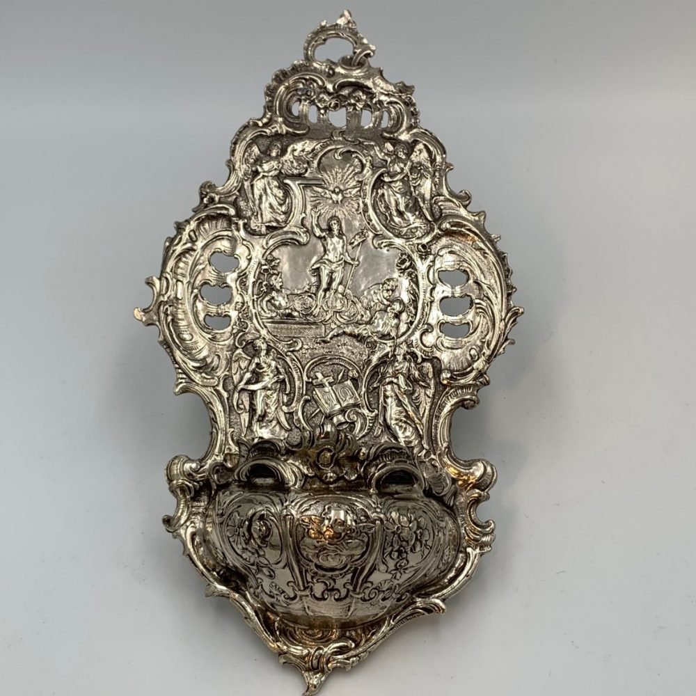 Hanau Silver Holy Water Font by Gebruder Neumann
