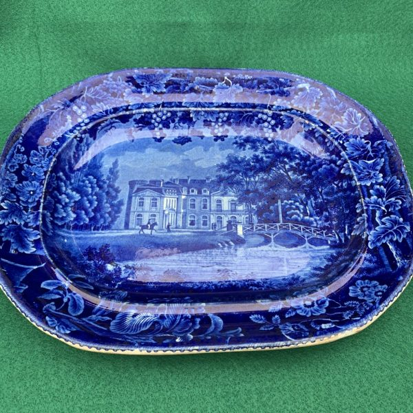 Enoch Wood Historic Blue Staffordshire, Chateau Ermenonville