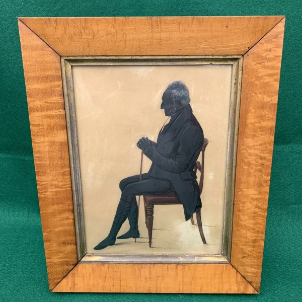 Painted Silhouette of a Seated Gentleman