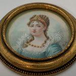 image of A Hexagonal Miniature Portrait Brooch