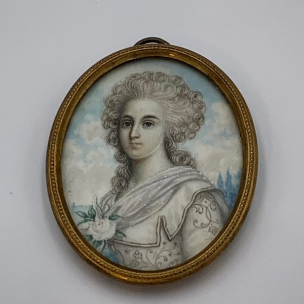 Miniature Portrait, An Eighteenth Century Lady