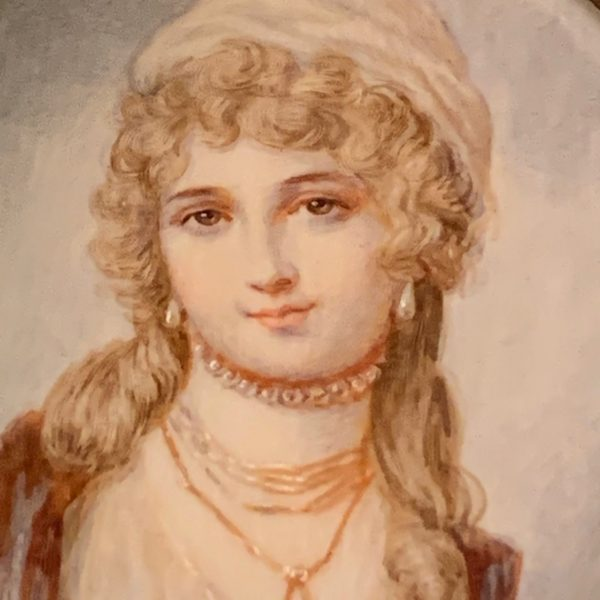 Miniature Portrait of a Lady With Pearls
