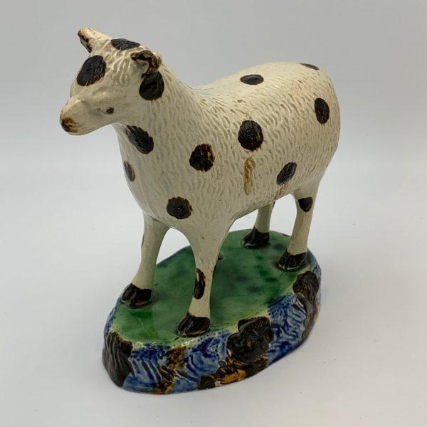 Large English Pearlware Ewe Figure