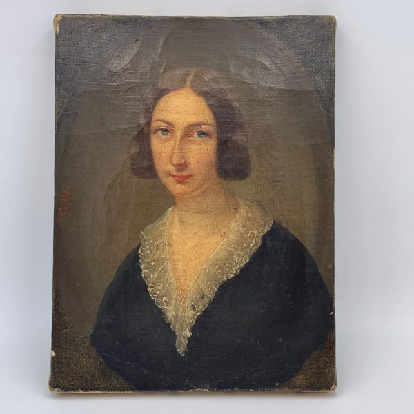 Small Portrait of a Lady With a Lace Collar