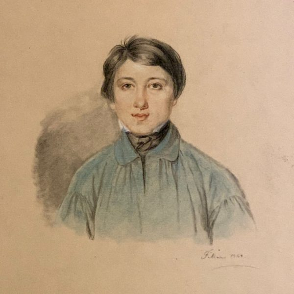 Pastel Portrait of a Young Man