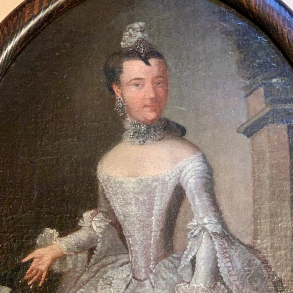 Portrait of a Bejeweled Lady with an Impossibly Thin Waist