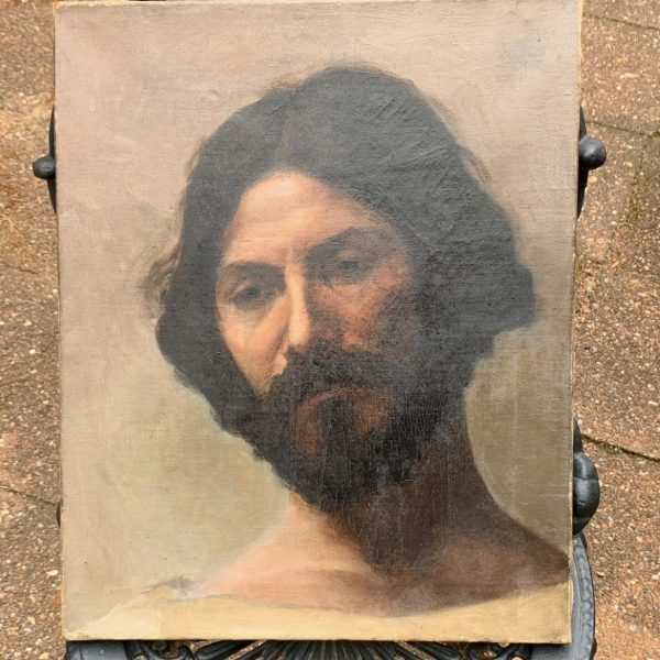 Oil on Canvas Portrait of Christ