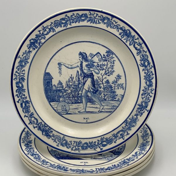 French Creamware Astrological Plates