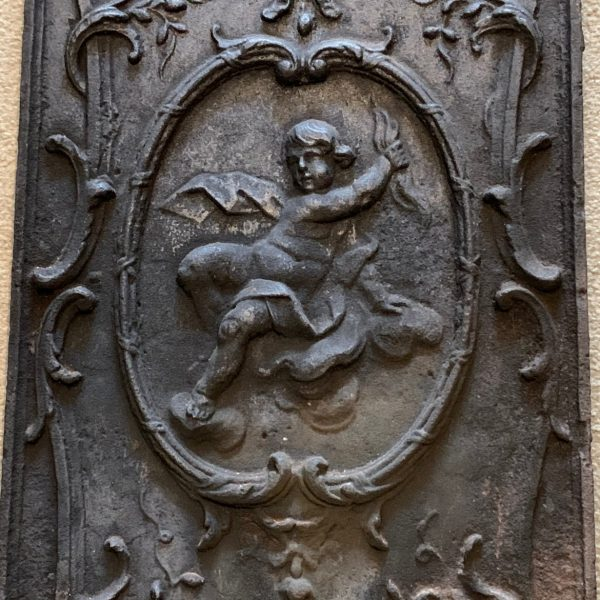 French Rococo Cast Iron Plaque