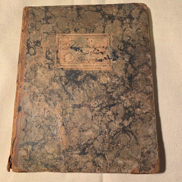 Manuscript Surveyor/Builder Exercise Book from Pennsylvania