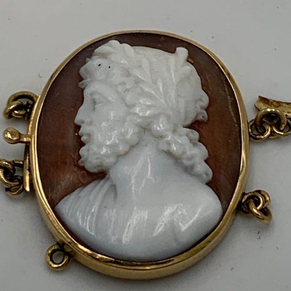 Zeus Cameo Bracelet Clasp