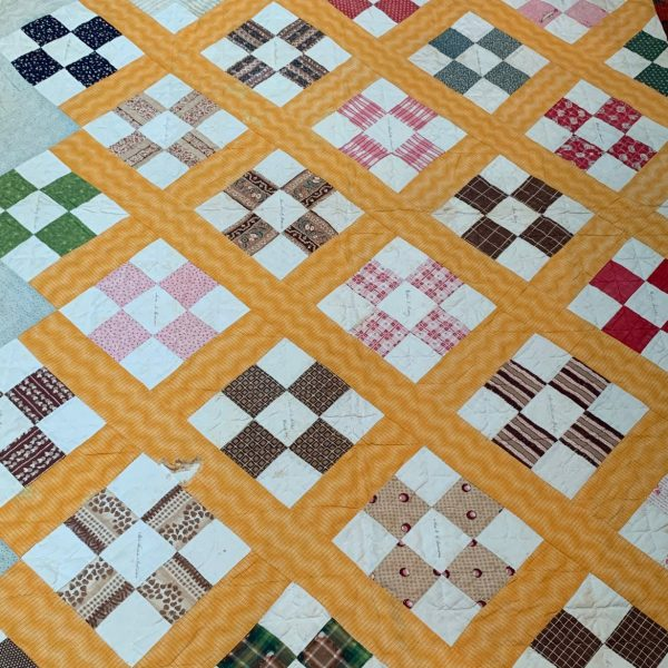 Historical Quilt, Winchester and Enfield Massachusetts, Rev. James H. Dill, Illinois