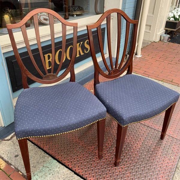 Pair Fredericksburg Hepplewhite Side Chairs