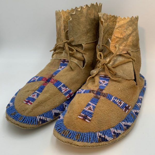 Native American Beaded Moccasins, Fort Hall Reservation