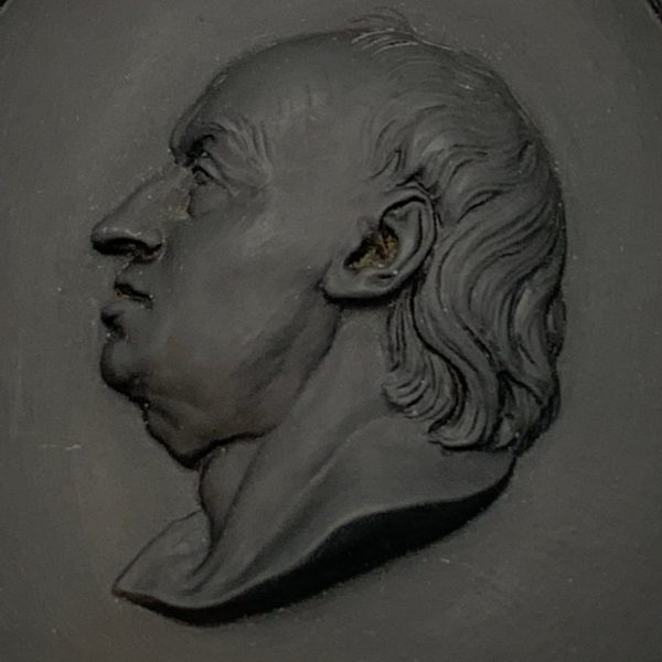 Wedgwood Basalt Dr. Samuel Johnson Portrait Plaque