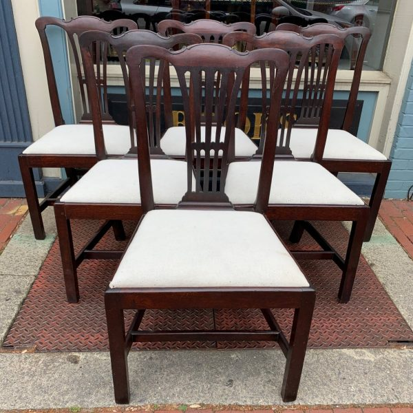 Set of Six Period Chippendale Dining Chairs