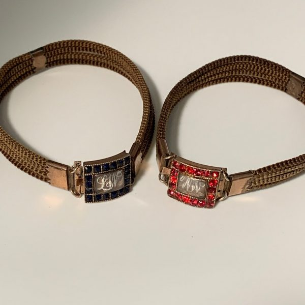 Pair of Historically Important American Mourning Bracelets