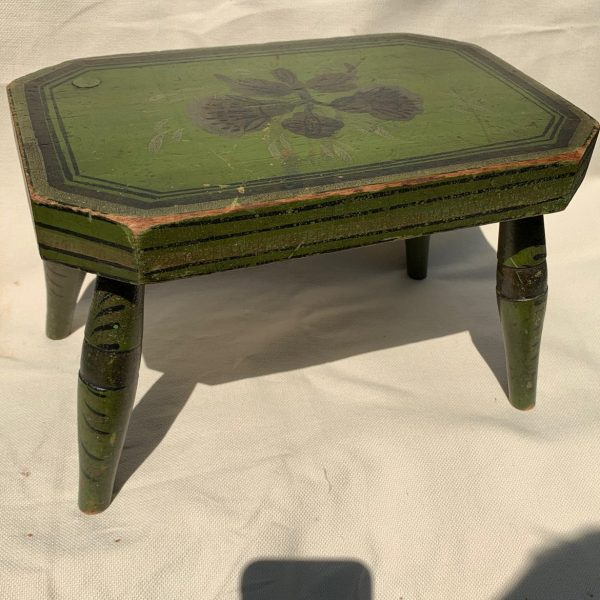 Windsor Cricket Stool with Original Paint