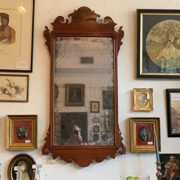 A Large Philadelphia Chippendale Mirror, Labeled John Elliott