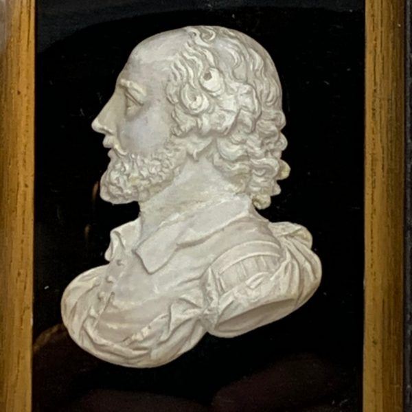 Sculpted Plaster Profile Portrait of Shakespeare